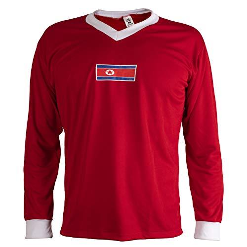 JL Sport Corea del Norte Camiseta Retro Fútbol Hombrega Larga para Hombre - XXL