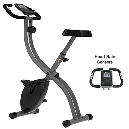 Lunch Box Exerpeutic Folding Magnetic Upright Bike,Bike Home Trainer, Pulse And Maximum Weight Capacity of 300 Pounds / 136 Kg