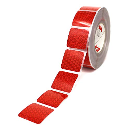 Orafol Reflexite VC 104 Curtain Grade Segmentiert Konturmarkierung Reflexband (Rot, 1 Meter (8,99 € / Meter))