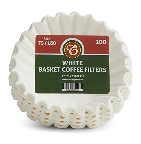 EDESIA ESPRESS - 200 filtres à café en papier - forme corbeille - 4 à 10 tasses - 75/180 mm