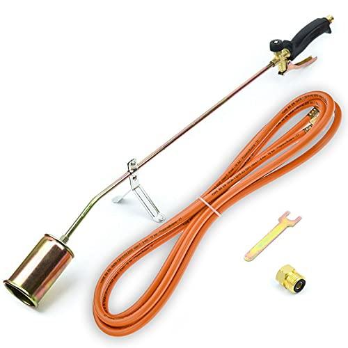 Gasbrenner 58 KW Dachbrenner Unkrautvernichter Brenner Abflammgerät SN0283