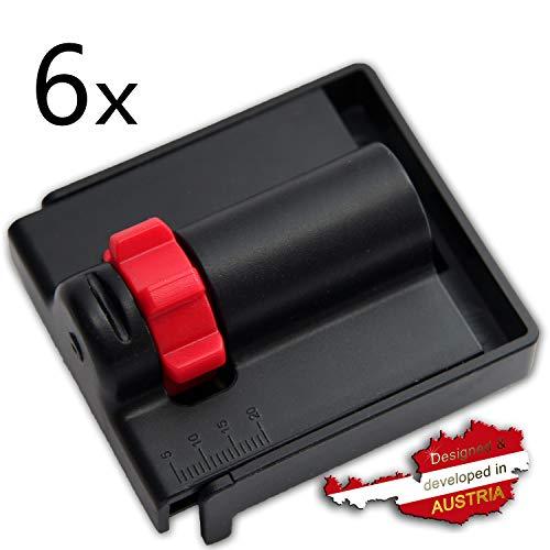WeLiQu Abstandhalter 5-20mm - 6 Stück - Der einstellbare Abstandskeil zur Verlegung von Parkett, Laminat und Vinyl - Nie mehr verrutschende, kippende Montagekeile/Holzkeile