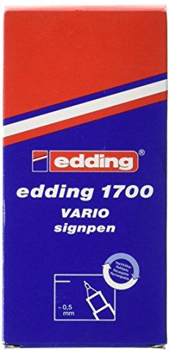 Edding Vario 10Stück Fineliner mit Spitze PU atramentiert Metall 0,5mm rot