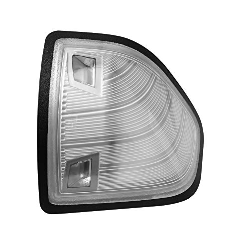 HERCOO LED Side Mirror Turn Signal Light Right Lamps Black Edge Cover Lens for 68302828AA 68302829AA Compatible with 2010-2018 Dodge Ram 1500 2500 3500 4500 5500, Pack of 1