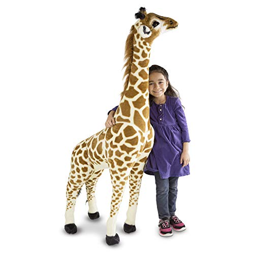 Melissa & Doug Giant Giraffe - The Original (Playspaces & Room Decor, Lifelike Stuffed Animal Plush Toy, Over 1.2 Metres Tall, Great Gift for Girls and Boys - Best for 3, 4, 5 Year Olds and Up)