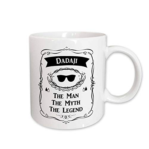 3dRose Mug_232449_1 Dadaji The Man The Myth The Legend Word for paternal...