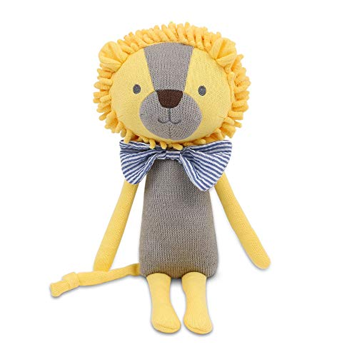 The Peanutshell Soft Knit Stuffed Animal Toy - Leon The Lion Childhood Lovey, Made from Cuddly and Huggable Knit Sweater Material and Super Soft Stuffing