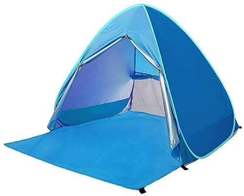 SAIYI Outdoor Automatic Pop-Up Beach Tent, Portable UV Protection Tent, Blue