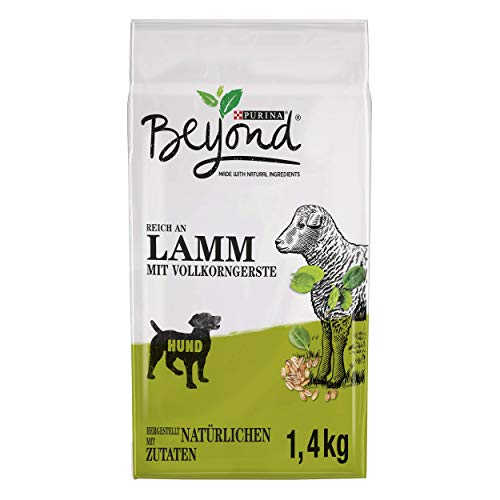 PURINA BEYOND Premium-Hundetrockenfutter weizenfrei, mit Lamm und Vollkorngerste, 6er Pack (6 x 1,4 kg)