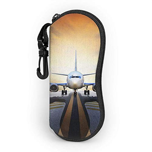 Backpack Airplane Eyeglass Case For Women And Men Portable Sunglasses Soft Case With Carabiner