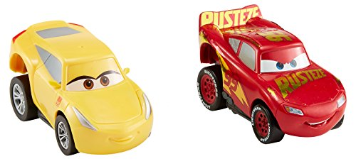 Disney Pixar Cars 3 - Revvin' Action Rust-eze Racing Center Lightning McQueen and Cruz Ramirez 2pk