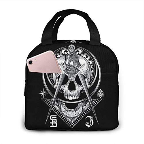 shenguang Masonic Flag Lunch Bag,Insulated Lunch Box School Picnic Thermal Carrying Gourmet Food Container Organizer, Lunch Bags for Kids, Girls, Boys and Women