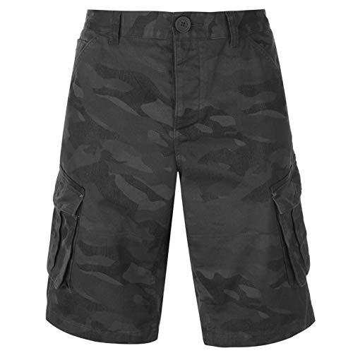 Firetrap Uomo BTK Cargo Shorts Pantaloncini Tasche Blu Marino Camo XXL