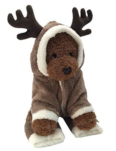 THEE Ropa para Mascotas Navidad Disfraz de Punto de Perro o Gato Fiesta Traje (XS, Elk)