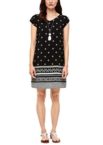 s.Oliver RED LABEL Damen Kleid kurz black panneau print 36