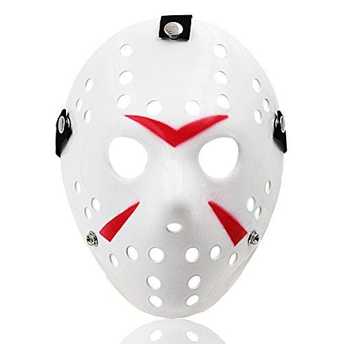Jason Mask Halloween Cosplay Costume Horror Hockey Mask White 09W