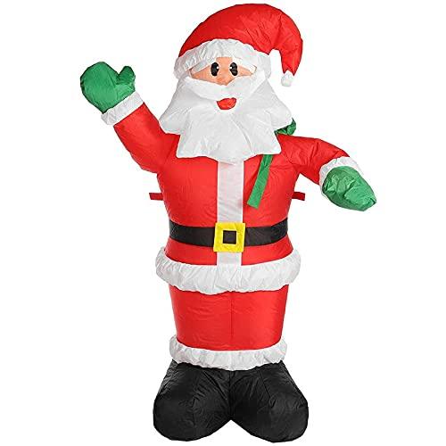 ADSVMEL Adornos Navideños Grandes De 2,4 M, Decoración Inflable De Papá Noel con LED Brillante Incorporado, Decoración De Patio Inflable, Accesorios De Decoración De Manos Arriba De Papá Noel