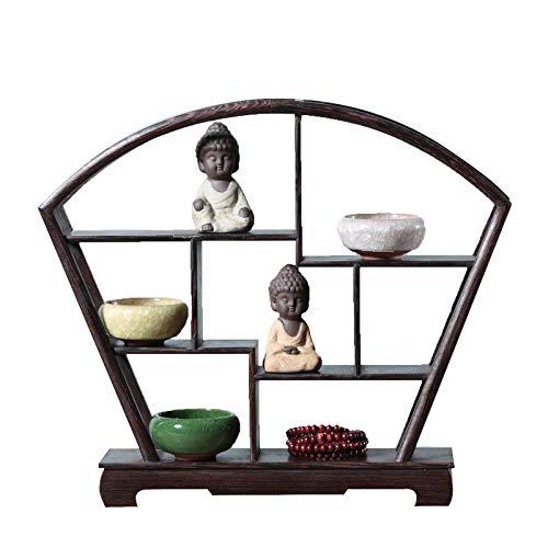 MKMKL Manualidades de Caoba, estanterías de colección de Madera Maciza, Regalos, bastidores, Decoraciones de Escritorio,31.5x5.7x27cm