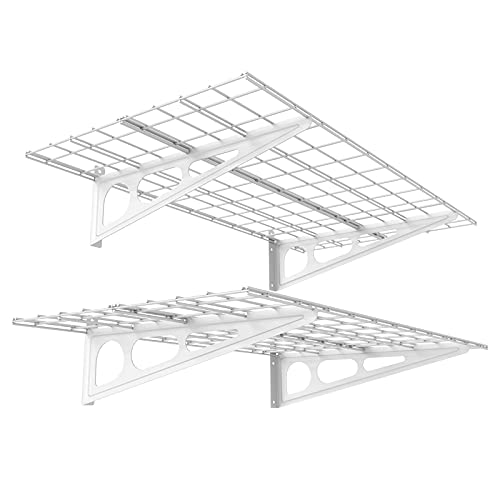 FLEXIMOUNTS 2-Pack 2x4ft 24-inch-by-48-inch Wall Shelf Garage Storage Rack Wall Mounted Floating...