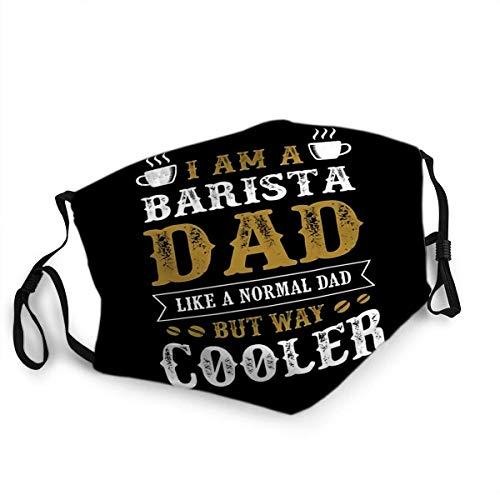Wiederverwendbarer Gesichtsschutz Mundschutz Vatertag Sprüche und Zitate Ich Bin Barista Dad