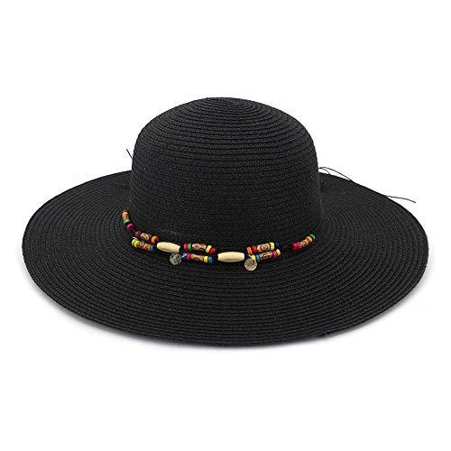 Cappellini Qiukui Fashion Dome Nuovo Cappello da Spiaggia for ombrellone, Cappello Lungo Lungo, Cappello di Paglia for Donne Selvatiche di Moda, Cappello da Sole for Vacanze estive