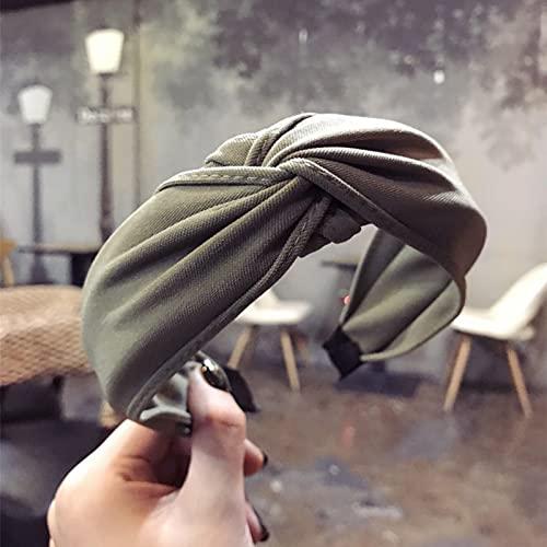 WZDTNL Diadema para mujer, bandas de pelo simples de moda, nudo de moda turbante diademas de aro ancho para el pelo para mujeres y niñas