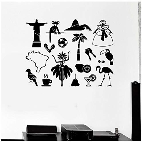 Hanzeze Latijns-Amerika Muurstickers Afneembare en levendige ontwerp DIY huis muur raam art deco sticker geschikt voor kinderkamer 57x74cm
