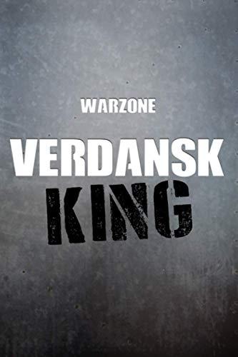 Warzone VERDANSK King Notebook: 6x9 Ruled Journal Planner: The Perfect Accessory for Gamers Solo Quads Battle-Royale