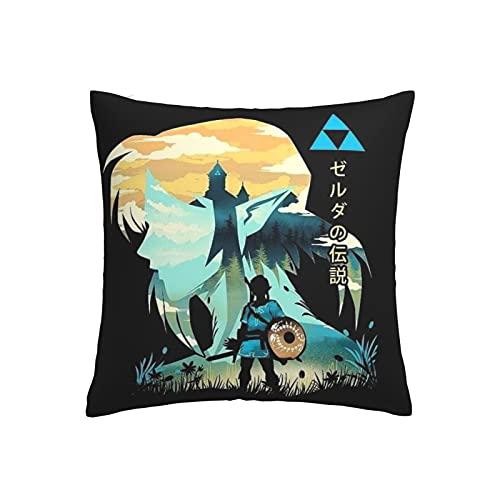 Fundas de almohada Legend Of Zelda cálidas y suaves para cojín decorativo en la cama, sofá, almohada al aire libre, 45 x 45 cm
