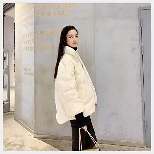 Women's korte donsjack diktes van de winter warm vrouwen kleding, Koreaanse witte eend donsjack, One Size (Color : White, Size : M)