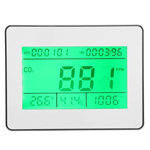Qqmora Probador de Calidad del Aire Medidor de dióxido de Carbono Detector de CO2 Detector de Gas de Aire Multifuncional Kit de probador preciso Seguimiento en(European regulations)
