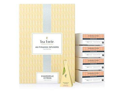 Tea forte Infusion Bio 48 Piramidi Camomilla Limone, Chamomile Citron Event Box by Tea Forté