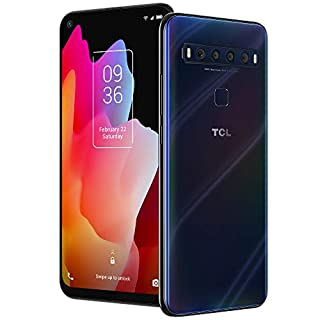 """TCL 10L, Unlocked Android Smartphone with 6.53"""" FHD + LCD Display, 48MP Quad Rear Camera System, 64GB+6GB RAM, 4000mAh Battery (B087LYQ22N) 