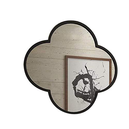 DERUKK-TY Espejo de maquillaje con marco de metal, para colgar artículos para el hogar, decoración de pared, simple y elegante espejo redondo para baño (color: dorado, tamaño: 60 cm)