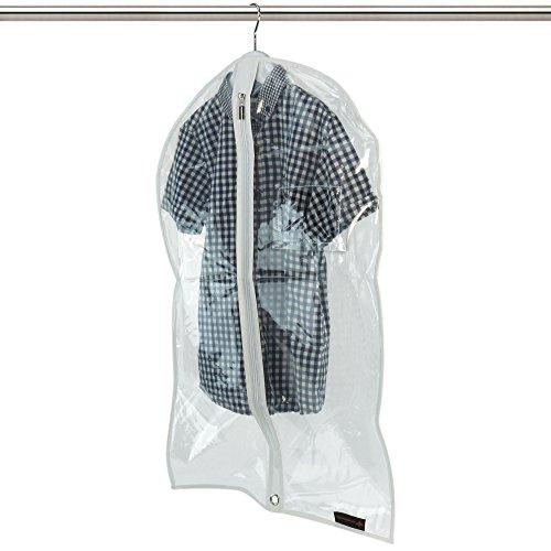 Hangerworld Lot de 10 Housses imperméables Transparentes pour vêtements Enfant/bébé