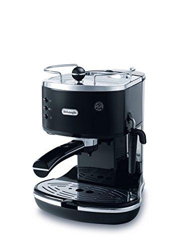 De'Longhi | Icona Pump Espresso Coffee Machine | ECO310BK | Includes Manual Milk Frother For The Perfect Cappucino, Flat White or Espresso | Black