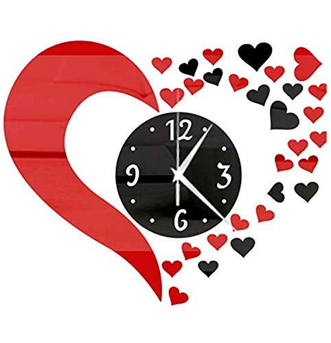 Reloj de Pared Espejo de Pared Reloj Etiqueta Conjunto 3D Decoración PS Cartel Calcomanías Cartel Parche de la decoración de la Cocina Sala de Dibujo