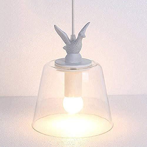 Exquisita En forma de pájaro lámpara de cristal retro Nórdico Industrial creativo de techo Balcón Luz comedor dormitorio camas Habitación pendiente de la luz de la lámpara Iluminación de la isla Bar E
