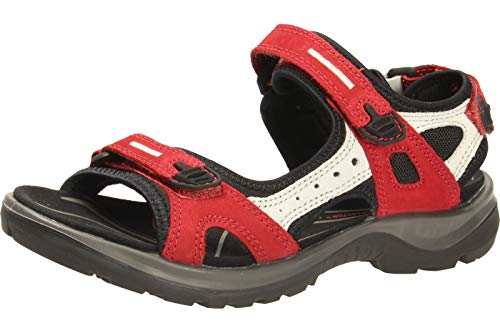 ECCO Damen Offroad Sport- & Outdoor Sandalen, Rot (Chilired/Concrete/Black 55287), 41 EU