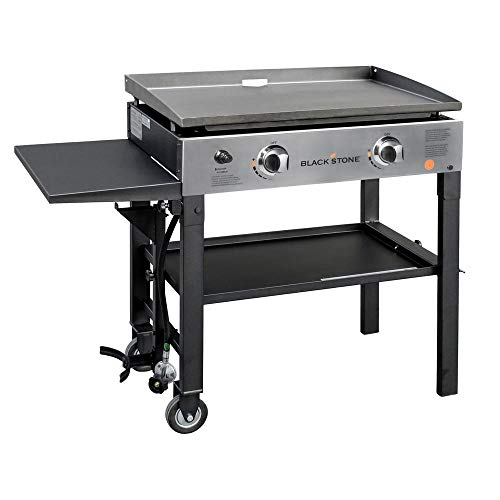 Blackstone 1605 28 Inch Outdoor Propane Gas Griddle Stainless Steel / Black, 2 Independent Burners,...
