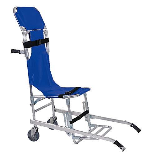 Stair Chair Silla de Escalera Silla de Ambulancia Plegable de Aluminio Ligero Bombero Evacuación Ascensor Silla de Escalera 2 Ruedas Silla de Transporte