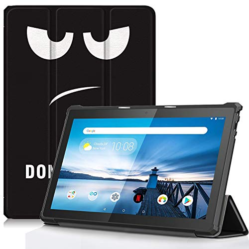 TTVie Case for Lenovo Tab M10, Ultra Slim Lightweight Smart Shell Stand Cover for Lenovo Smart Tab M10 10.1 Inch FHD Tablet 2018 Release, TPU Eyes
