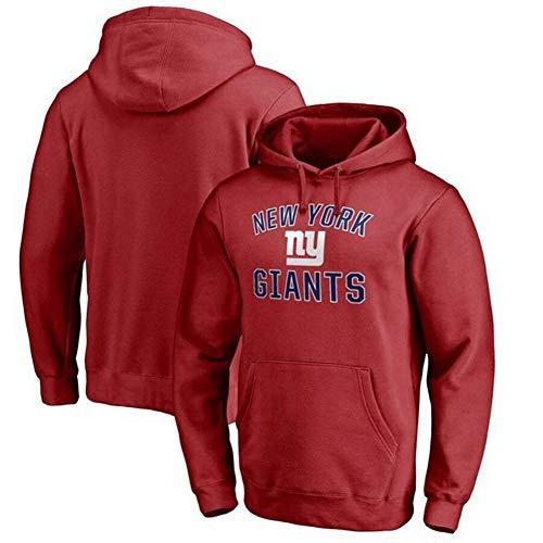 Mingui Trading Scotland Rugby Trikot,Männer Kapuzenpullover -New York Giants Fan Kordelzug Jersey Fleece Pullover Pullover