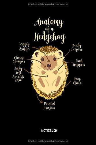 Anatomy Of A Hedgehog - Notizbuch: Lustiges Igel Notizbuch. Tolle Igel Zubehör & Igel Geschenk Idee.