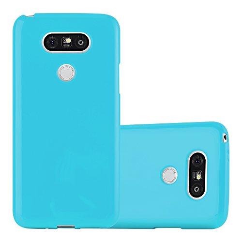 Cadorabo Custodia per LG G5 in JELLY CELESTE - Morbida Cover Protettiva Sottile di Silicone TPU con Bordo Protezione - Ultra Slim Case Antiurto Gel Back Bumper Guscio