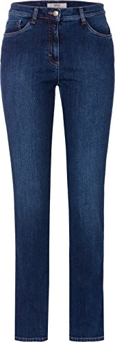 BRAX Mary Crystal Romance Damenjeans: Slim Fit Jeans im 5-Pocket-Style, Blau (Used Regular Blue 25), Gr. W36/L32 (Herstellergröße: 46)