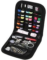 70pcs Kit De Costura para Viajeros De Bricolaje Fuentes De Costura Organizador con Tijeras, Dedal, Hilo, Agujas De Coser, Cinta Métrica Etc