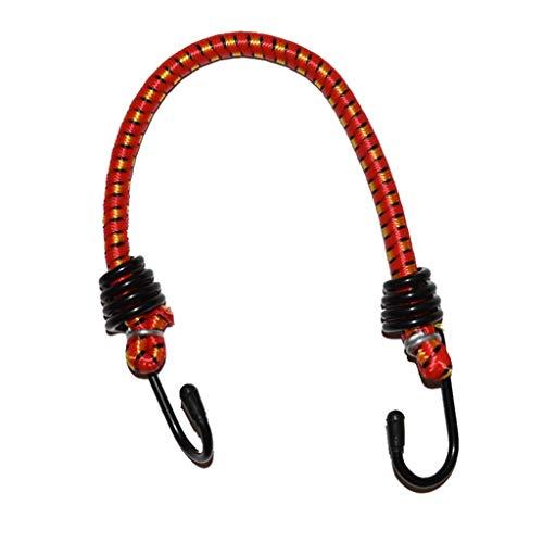 Correas de amarre para moto de bicicleta, elásticas, de goma, cuerda elástica para equipaje, banda de goma de haz de carga (80 cm)