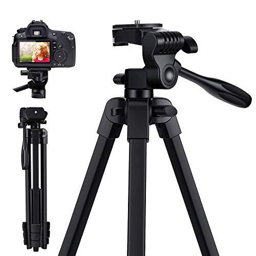 Tensphy Kamera Stativ Handy Stativ Smartphone iPhone Stativ Aluminiumlegierung für Smartphone DSLR Canon Nikon Sony Gopro mit Handyhalterung, GoPro Adapter, Bluetooth Fernbedienung und Tragetasche
