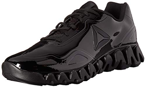 Reebok Men's Zig Pulse Running Shoe, black/black/patent, 11 M US